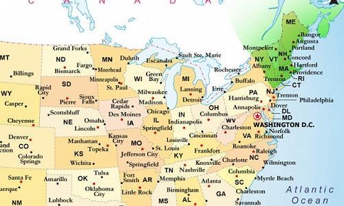 New England, New England map, Map of New England, Map New England, New England states, New England weather, New England garden, New England Climate, New England Region, hardiness zones, plant hardiness zones, usda hardiness zones