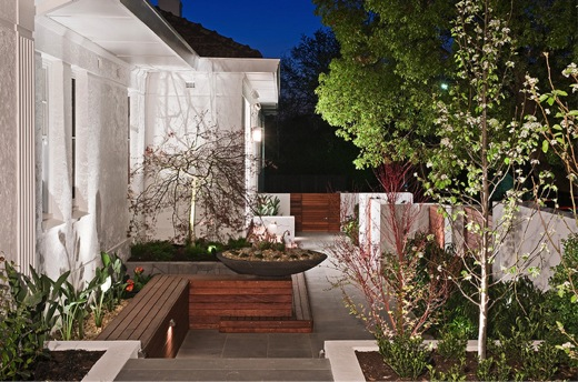 Small space, small backyard, wall sculpture, wall screen, COS Design