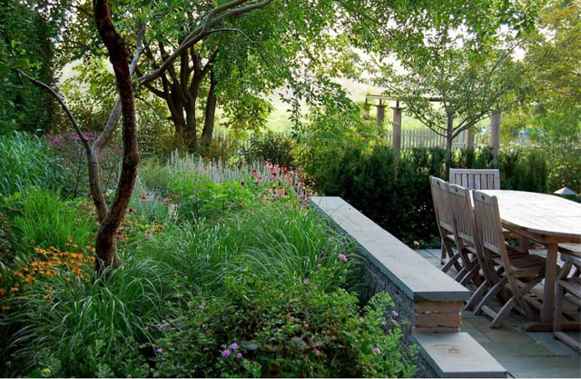 Garden ideas, Landscaping Ideas, arbor, pergola, garden structure, fountain, water feature, Fernhill Landscapes